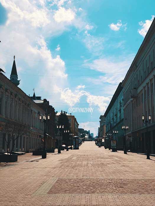 Нижний Новгород. Покровка в карантин.