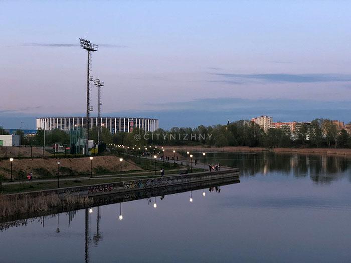 Вид на вечернюю Мещеру. Май 2020, Нижний Новгород.